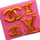 L.V. e Chanel Griffe Moda. Stampo in silicone