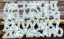 Alfabeto. Fustelle sottili metalliche per Scrapbooking