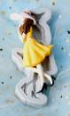 Ragazza con la gonna. Grande Stampo in silicone di 16 cm
