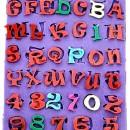 Alfabeto Lettere e Numeri. Stampo in silicone