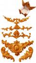 Barocco. 5 Fantastiche decorazioni. Stampo in silicone