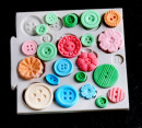 Bottoni in 23 forme decorate. Stampo in silicone
