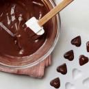 Cioccolato. Spatola lunga in Silicone. Patisse