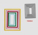 Cornice Decorata Rettangolare. 5 Fustelle sottili metalliche per Scrapbooking