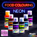 Effetto NEON. Fluo Magic Colour. Coloranti alimentari in gel