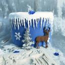 Fantastico stampo Natalizio con Albero di Natale Renna e Fiocchi di neve