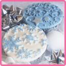 Fiocchi di Neve  Stampo in silicone per la pasta di zucchero