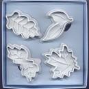 Foglie varie. Set di 4 Stampi espulsione Tagliapasta.