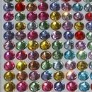 """Foglio adesivo di Strass Cristalli stickers """"Perline"""" 6 mm termoadesivi per decorare.Vari colori."""