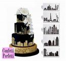 Città con Grattacieli  Stencil in policarbonato