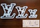 L.V. Set di 3 Stampi