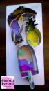 Pellicano Ananas e Gelato. Set di 3 grandi tagliapasta in metallo