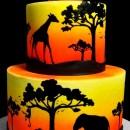 Safari Silhouette Set. Stampo Animali della Savana