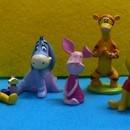 Set di 5 Splendide e realistiche Statuine di Winnie the Pooh e i suoi amici.Per decorare torte e dolci.