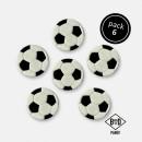 Set di 6 decorazioni a tema Pallone di Calcio in zucchero. PME