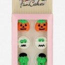 Set di 8 decorazioni in zucchero a tema Halloween. FunCakes