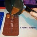 Stampo in silicone, Barrette di cioccolata.