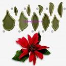 Stella di Natale. Poinsettia . 10 stampi Cutter in plastica