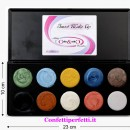 Trousse Gel. 10 Coloranti cremosi per alimenti. SWEET MAKE-UP. Senza Glutine.