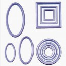 Set di 10 Tagliapasta Geometrici Cerchi Quadrati e Ovali. FMM