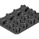 Puzzle 12 pezzi. Stampo in silicone Professionale con Piastra 400x300.