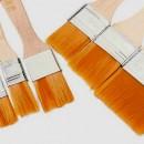 5 Pennelli per dipingere in Setole Nylon.