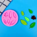 6 Foglioline. Stampo Foglie in silicone