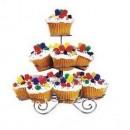 Alzata porta Cup Cake e Muffin in acciaio a 3 piani.
