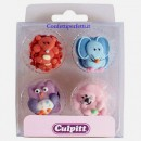 Animali Baby. Set di 12 decorazioni in zucchero a tema Culpitt