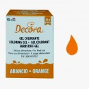 ARANCIO. Nuovi Coloranti Alimentari in Gel. 28 gr. Decora.