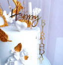 Buon Compleanno. Happy Birthday in Verticale. Cake Topper