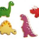 Dinosauri. Set di 4 Tagliapasta in plastica a tema. Originale Decora
