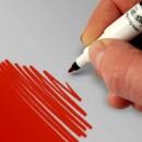 Doppia Punta. Rosso. Pennarello Alimentare con 2 punte di 0,5 mm e di 2,5 mm. Rainbow Dust Food Art Pen