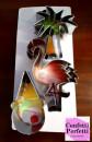 Fenicottero Palma e Gelato. Set di 3 grandi tagliapasta in metallo