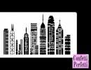 Grattacieli di New York. Stencil in policarbonato