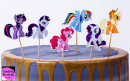 Little Pony Cake Topper. 24 Sagome colorate