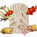 Mare. Pesci Corallo e Alghe. Stampo silicone