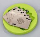 Mazzo Poker. Cuori Quadri Fiori e Picche. Stampo in silicone