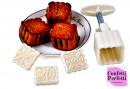 Mooncake Set di 4 Stampi espulsione per biscotti