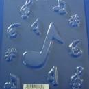 Note Musicali. Stampo per cioccolato in policarbonato