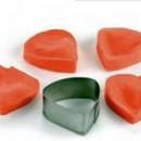 Petali Rosa. 4 Venatori in silicone + Cutter in metallo.
