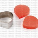 Petalo di Papavero. 2 Venatori in silicone + Cutter in metallo