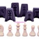 Stampo scacchi in silicone