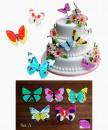 Set A. Farfalle volanti in Wafer Paper edibili. Cake Topper