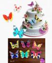 Set F. Farfalle volanti in Wafer Paper edibili. Cake Topper