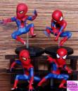 Uomo Ragno. Fantastico set di 4 statuine in PVC di Spiderman