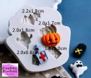 Zucca Fantasma Pipistrello. Stampo Halloween con 5 forme