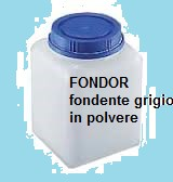 FONDENTE IN POLVERE PER FUSIONI ORAFE FONDOR/ FONDOR MELTING SOLUTION POWDER FOR GOLD immagini