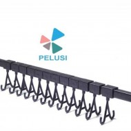 GANCETTIERA MODULARE per lav.ultrasuoni/ Ultrasonic Cleaning Ring Rack with 12 Movable Hooks