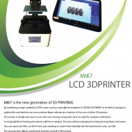 3D STAMPANTE LCD SYSTEM PER GIOIELLI MIK 7 /  LCD SYSTEM 3D PRINTER FOR JEWELRY